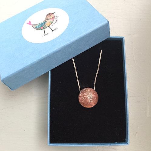 Copper Lentil Bead Pendant /Necklace