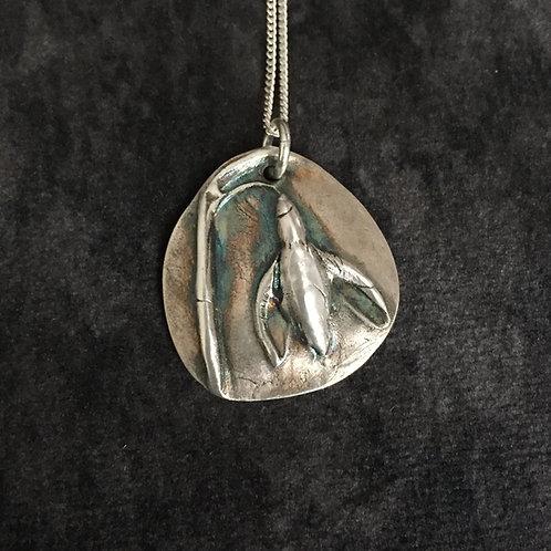 Solid Silver Snowdrop Pendant /Necklace