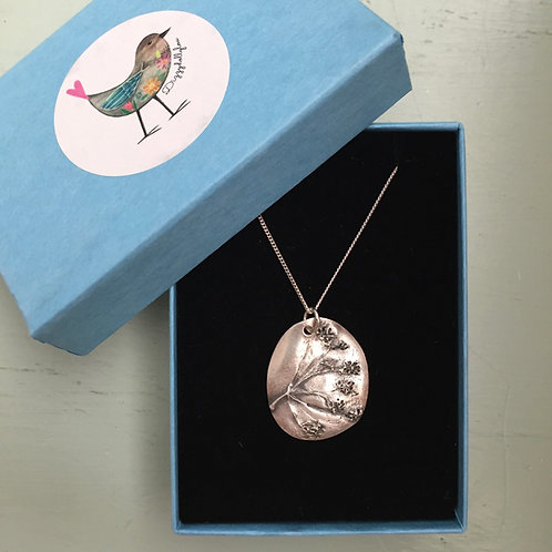 Solid Fine Silver Sheep's Parsley Pendant