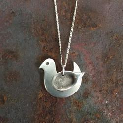 Silver Fingerprint bird