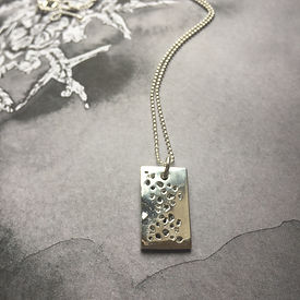 Ashes dog tag style necklace