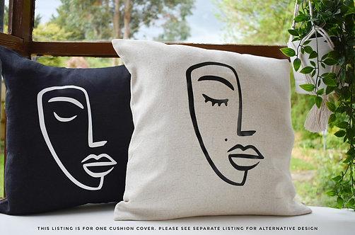 Boho Home Decor   Minimalist Decor   Cushions   Line Art   Monochrome Black Whit