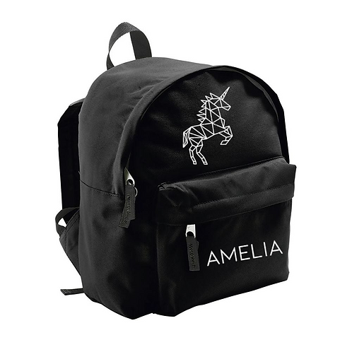 Toddler Backpack -  Geometric Unicorn (Personalised)