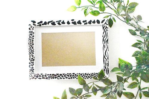 Animal print photo frame