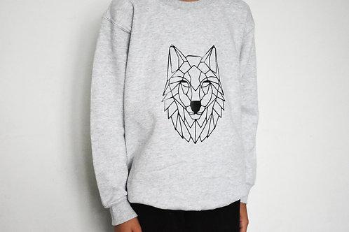 Kids Geometric Wolf Sweatshirt