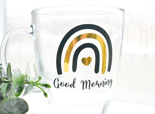 Good Morning - Rainbow - Limited Edition Glass Mug (350ML)