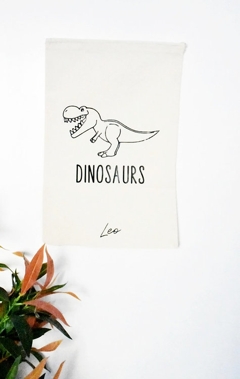 Toy Storage bags - Dinosaurs  *Personalisation available