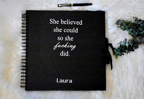 She Believed She Could (E) -  Vision Board Booklets / Scrapbooks
