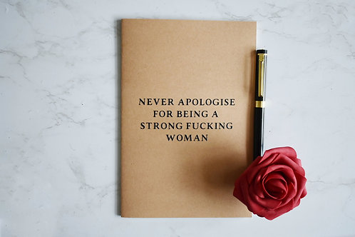 Strong Fucking Woman Notebook