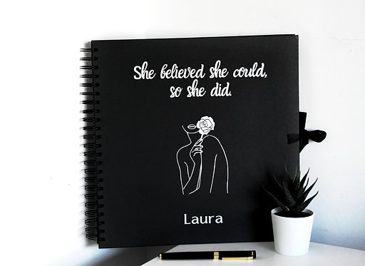 She Believed She Could  -  Vision Board Booklets / Scrapbooks