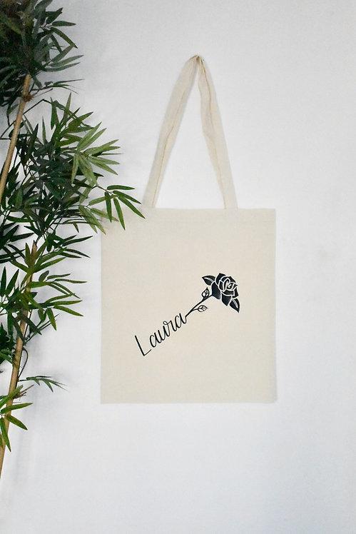 Personalised Rose Tote Bag