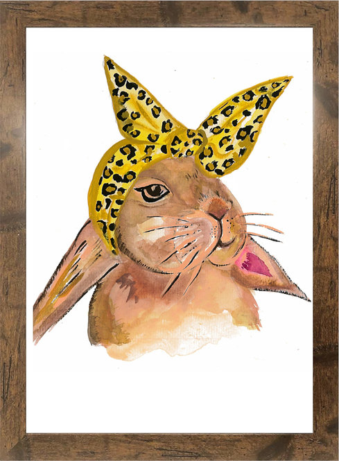 TOO GLAM TO GIVE A DAMN - RABBIT  - A3