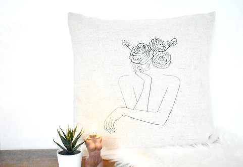 SOFT BUT UNAFRAID TO CONQUER CUSHION COVER