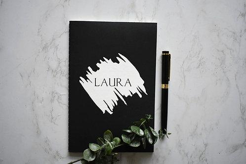 Paint Stroke Effect Personalised Notebook