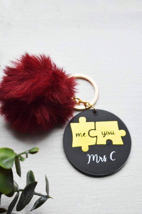 Me & You - Personalised Keyring