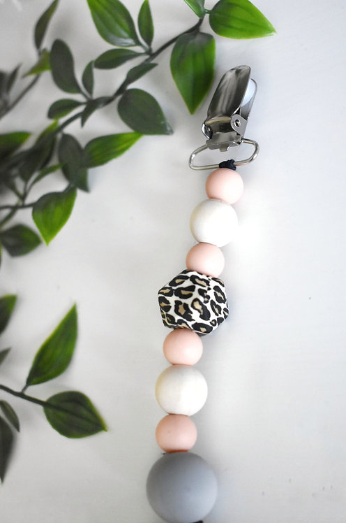 Stylish silicone pacifier clip - Style D