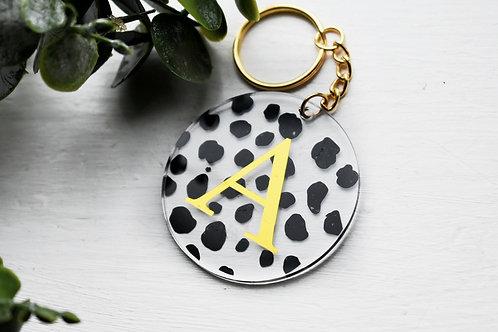 Dalmatian - Initial - Personalised Keyring