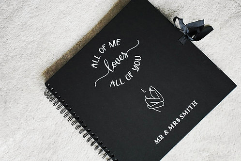 All Of Me (Couples) -  Personalised  Booklets / Scrapbook