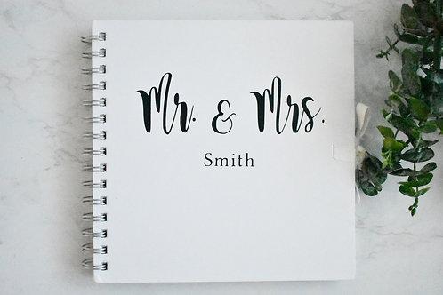 Mr & Mrs Personalised  Booklets / Scrapbooks