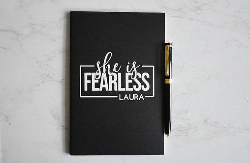 Personalised Fearless  Notebook