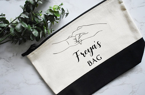 Mother and Baby  Cosmetics / Toiletry Bag - Personalised