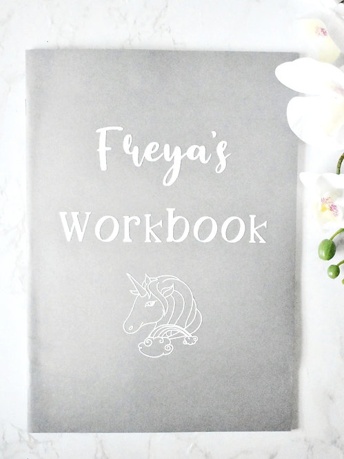 Personalised Children Workbook - Unicorn