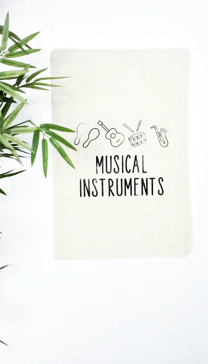 Toy Storage bags - Musical Instruments (*Personalisation available)