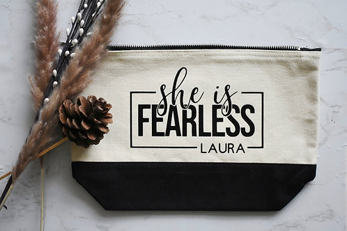 Fearless Cosmetics / Toiletry Bag - Personalised