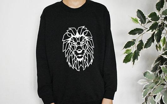 Kids Geometric Lion Sweatshirt