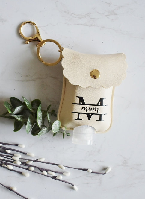 Mum -  Personalised Hand Sanitiser / Lotion Key Ring Pouch