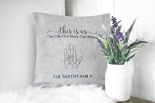 THIS IS US - FAMILY CUSHION COVER