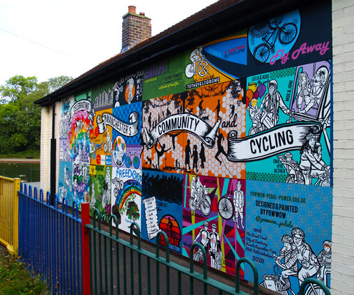 Celebration of Cycling Mural 2020