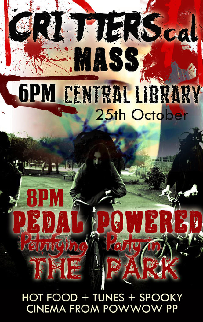 Pedal powered party in the dark