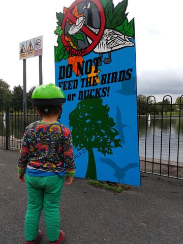 Do not feed the birds!