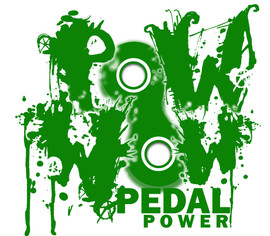 PoWWow Pedal Power Logo