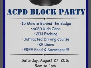 Police Block Party!  Excellent idea.