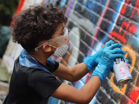 Creating community graffiti murals in Gloucester