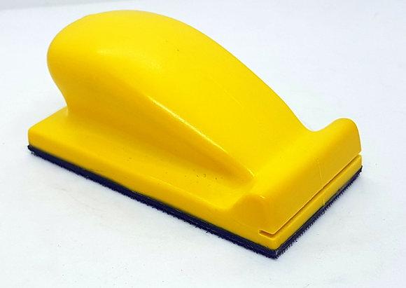 Шлифок ручной маленький 70х120 мм, с липучкой, жесткий