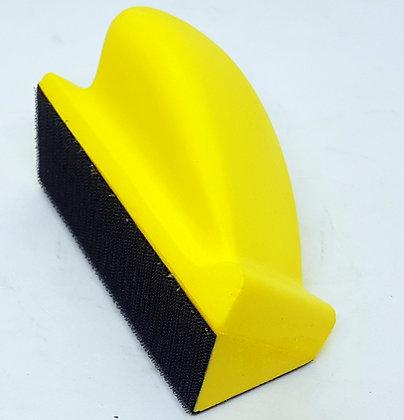 Шлифок ручной маленький 70х120 мм, без отв. с липучкой, угловой