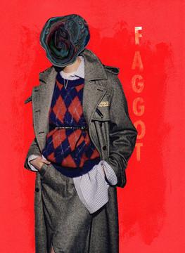 "Jacqueline Blanco ""Pose #3 Faggot"" (2019)"