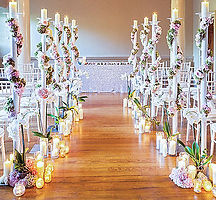 floral aisle decoration, Daisy Ties the Knot
