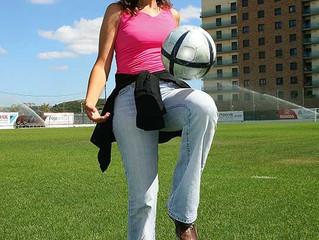 Europe's new football coach — she's got balls!
