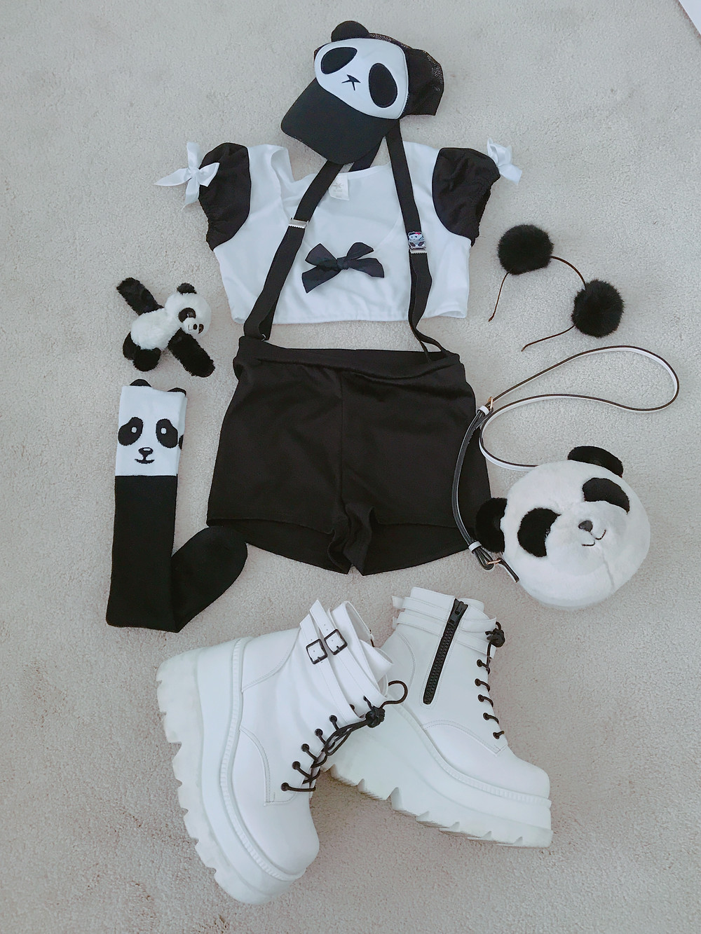 Flat Lay of Pandamonium outfit