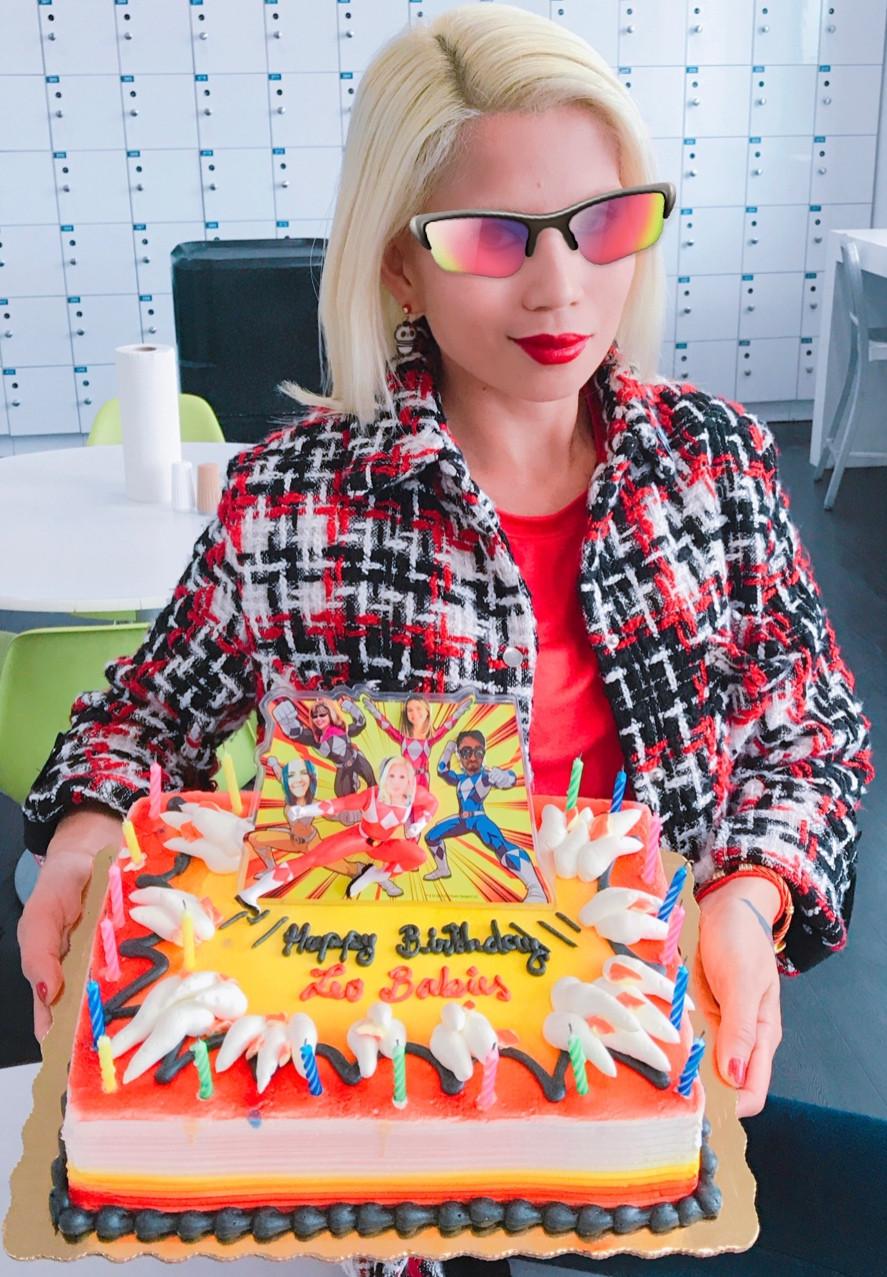 Power Rangers theme cake