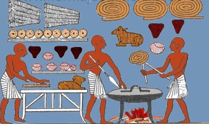 Ancient Egyptians baking