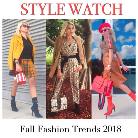 Style Watch: Fall Fashion Trends 2018