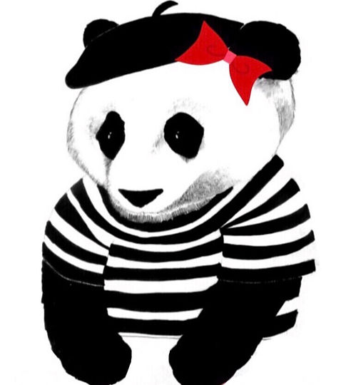 The Parisian Panda Logo