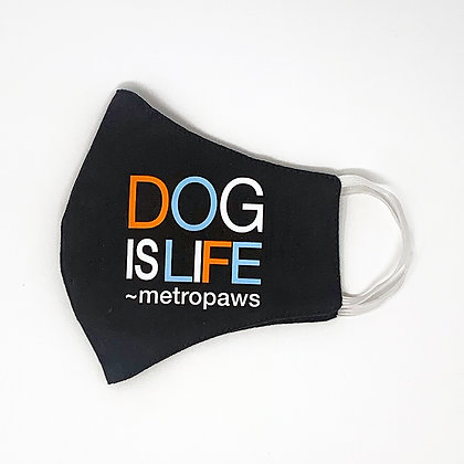 Dog Is Life® Charcoal Gray Face Mask