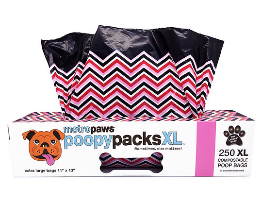 Poopy Packs XL™ Pink Chevron