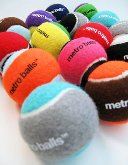colorful metro balls for dogs